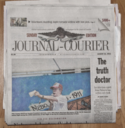 Dr. David Camp Makes Front Page News Jacksonville Journal-Courier
